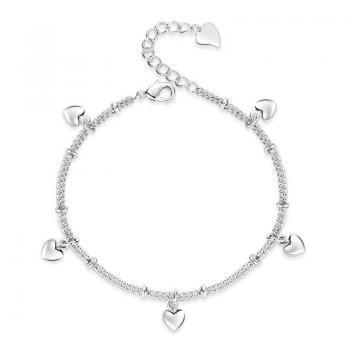 bracelet coeur en argent