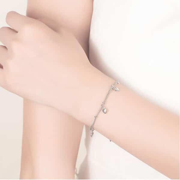 bracelet coeur pas cher en argent