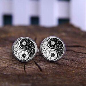 boules d'oreilles yin & yang