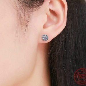 Boucles d'oreilles chic bleu des mers