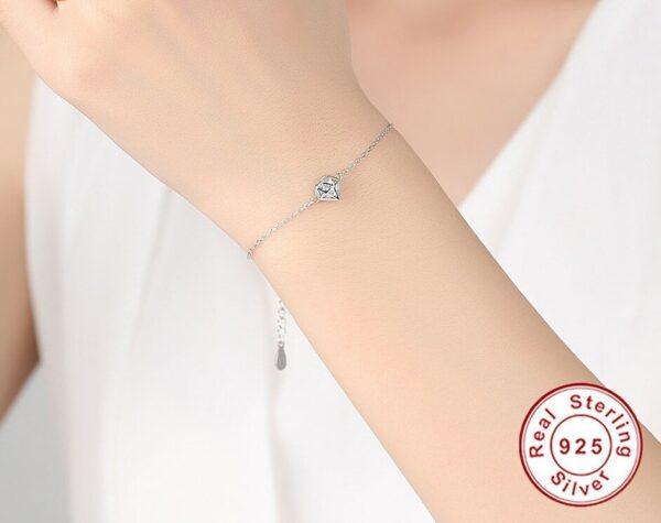 Bracelet argent pas cher et sa cage en forme de diamant