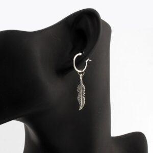 boucles d'oreilles pendantes pas cher plume