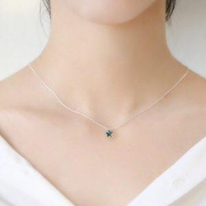 collier étoile bleu océan pas cher