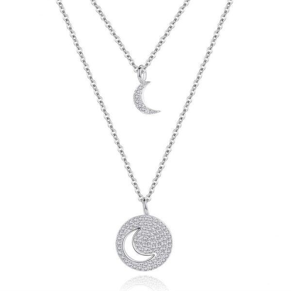 collier lune et son croissant