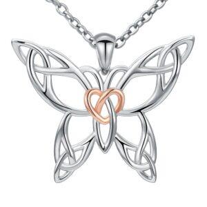 collier papillon en argent