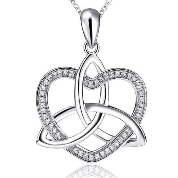 pendentif coeur trinité celte