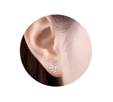 Boucles d'oreilles feuilles de laurier pas cher