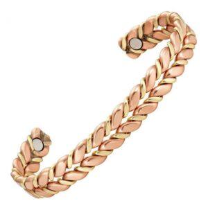 Bracelet en cuivre antimicrobien 2 aimants