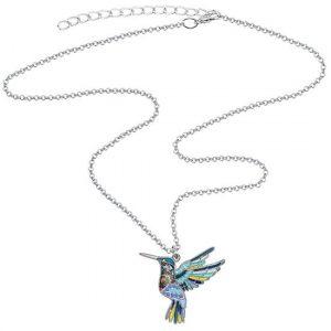 Pendentif colibri émaillé