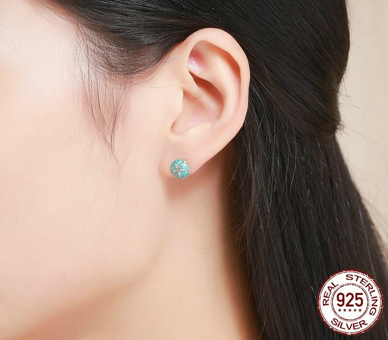 boucles d'oreilles étoile de mer en argent