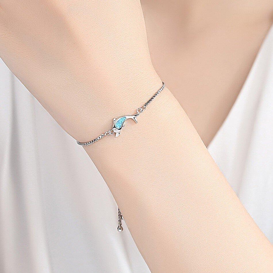 bracelet dauphin opale