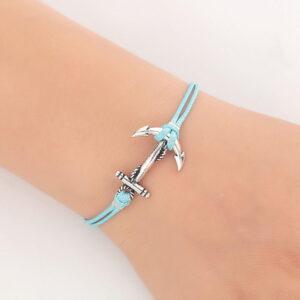 bracelet turquoise ancre marine