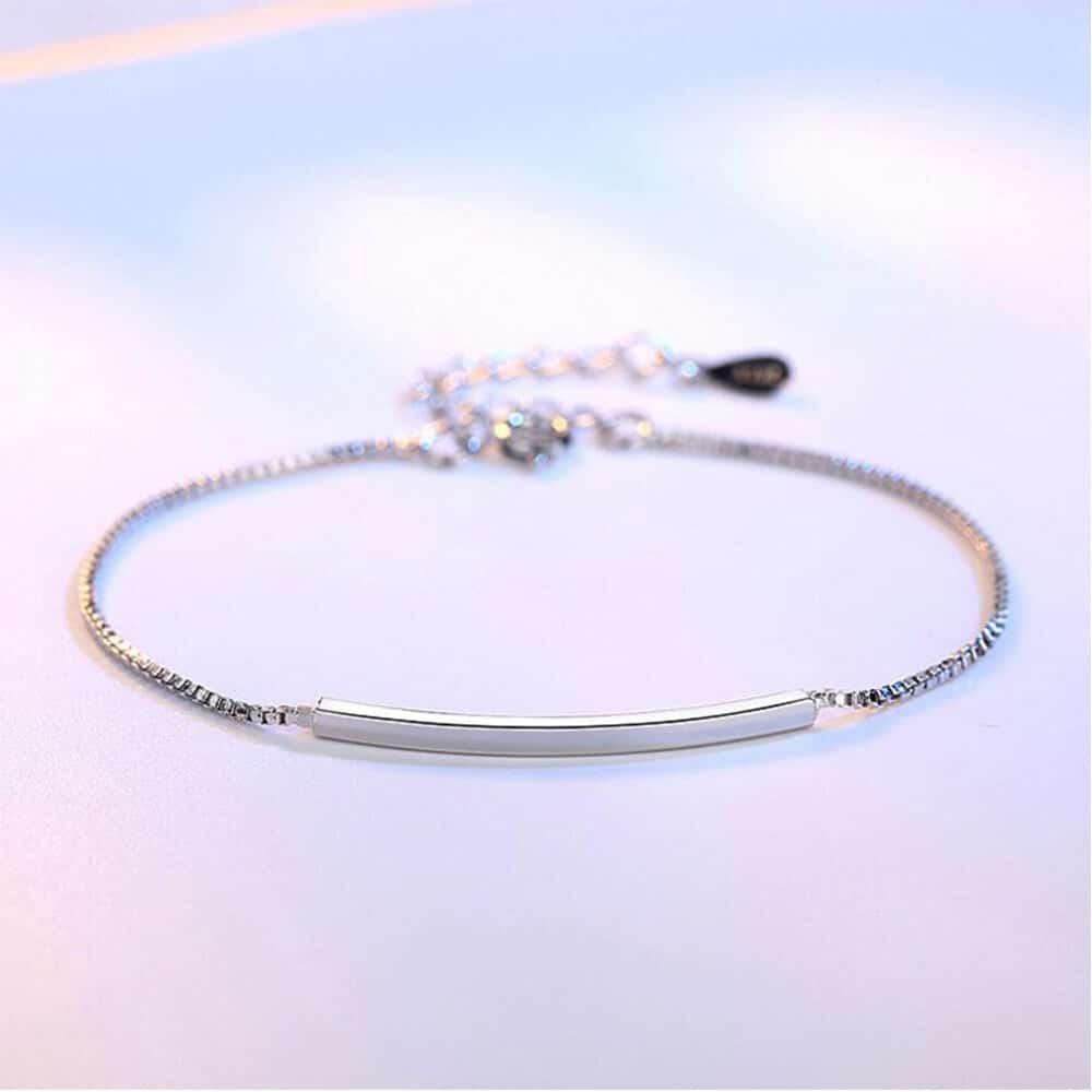 joli bracelet tube en argent