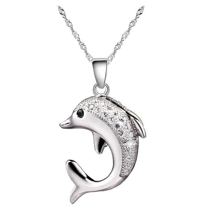 pendentif dauphin et cristaux