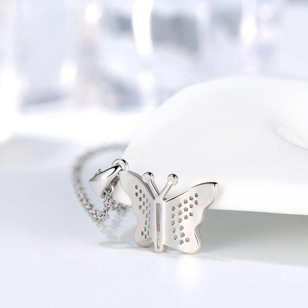 pendentif papillon pas cher en argent