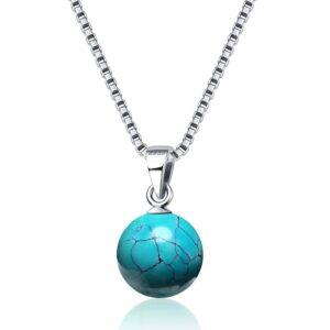 pendentif turquoise boule