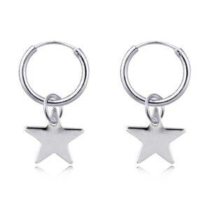 Boucles d'oreilles étoile argentée