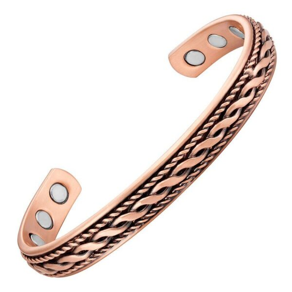 Bracelet en cuivre orné d'une fresque en relief