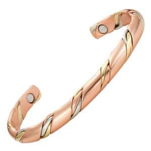 bracelet cuivre 3 tons 2 aimants neodyme