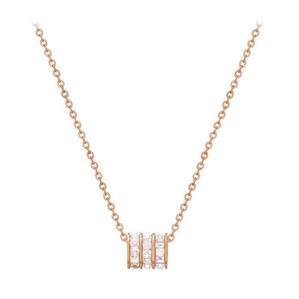 collier géométrique pas cher avec cristaux blancs